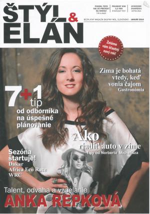 Anka Repková v titulkovom rozhovore pre časopis Štýl a Elán