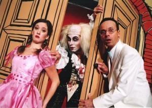 Anka Repková s Viktorom Horjánom a Stanom Králom v muzikály Rocky Horror Show