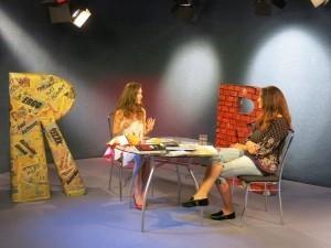Anka Repková v TV Ružinov s Karin Majtánovou