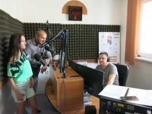 Anka Repková v Záhoráckom rádiu s Romanom Nogom a Zdenkom  Vávrom
