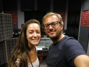 Anka Repková a Slavo Solovic pri nahrávaní piesne do filmu Čiara