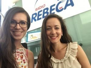 Anka Repková s Veronikou Dubovcovou v Rádiu Rebeca
