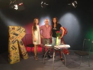 Anka Repková s Karin Majtánovou a Ladislavom Munkom v TV Ružinov