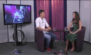 Anka Repková v relácii Metro dnes na TV Bratislava s Rasťom Ilievom o zbore Spievanie nás baví