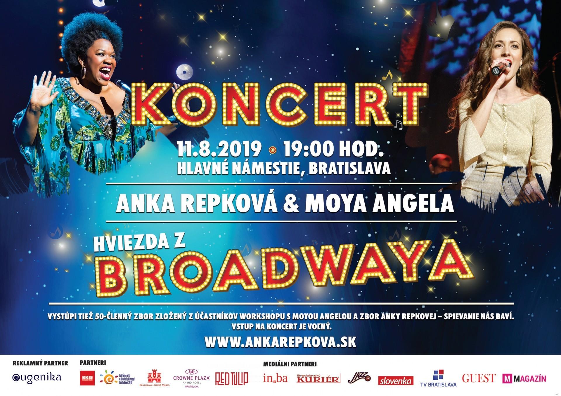 Anka Repková s hviezdou Broadwaya Moyou Angelou