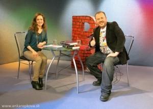 Anka Repková s moderátorom Romanom Bomboš v relácii Relax na TV Ružinov