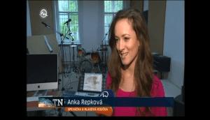 Speváčka a hlasová koučka Anka Repková v Televíznych novinách na Markíze