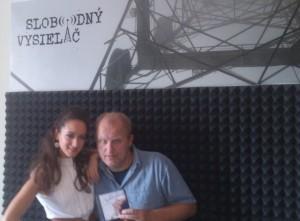 Anka Repková s Petrom Kršiakom v rádiu Slobodný vysielač