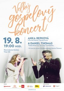 Veľký gospelový koncert s Ankou Repkovou a Danielom Thomasom