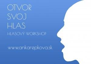 hlasový workshop Otvor svoj hlas speváčky a hlasovej koučky Anky Repkovej